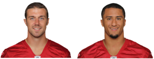 Alex Smith & colin Kapernick