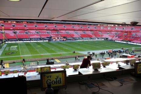 vista dentro do estádio